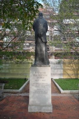 Spencer Fullerton Baird Memorial, front image. Click for full size.
