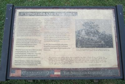 1. Confederate Cemetery Marker image. Click for full size.
