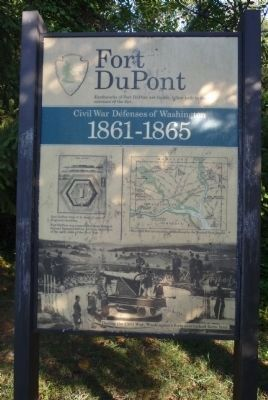 Fort DuPont Marker Panel 2 image. Click for full size.