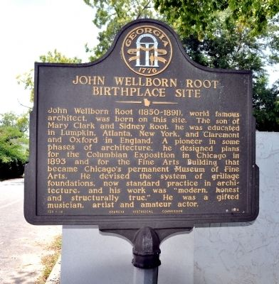 John Wellborn Root Birthplace Site Marker image. Click for full size.