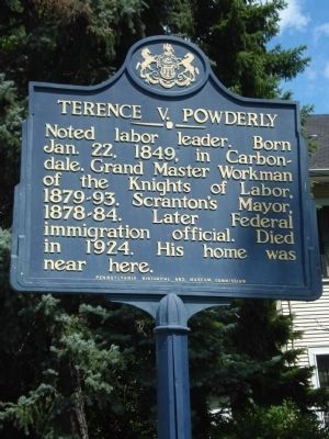 Terence V. Powderly Marker image. Click for full size.