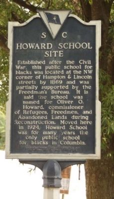 Howard School Site Marker image. Click for full size.