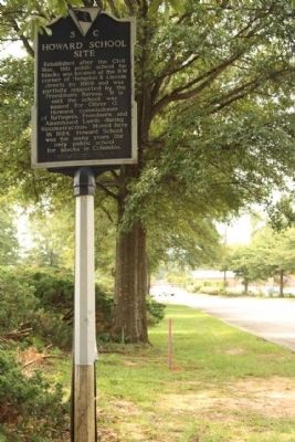 Howard School Site Marker, looking west image. Click for full size.