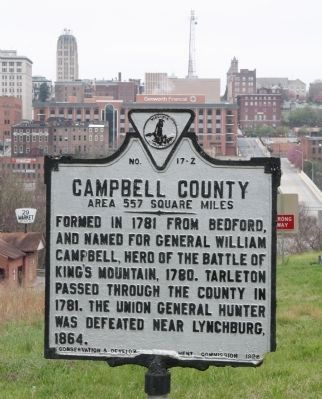 Campbell County Face of Marker image. Click for full size.