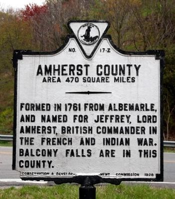 Amherst County Face of the Marker image. Click for full size.