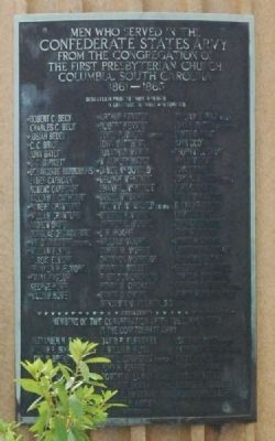 First Presbyterian Church Confederate Veterans Monument image. Click for full size.