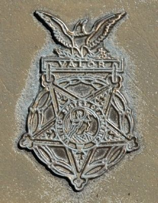 Peter J. Dalessandro Marker Detail - Medal of Honor image. Click for full size.