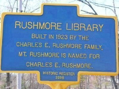 Rushmore Library Marker image. Click for full size.