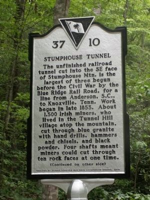 Stumphouse Tunnel Marker image. Click for full size.