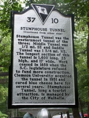 Stumphouse Tunnel Marker Reverse image. Click for full size.