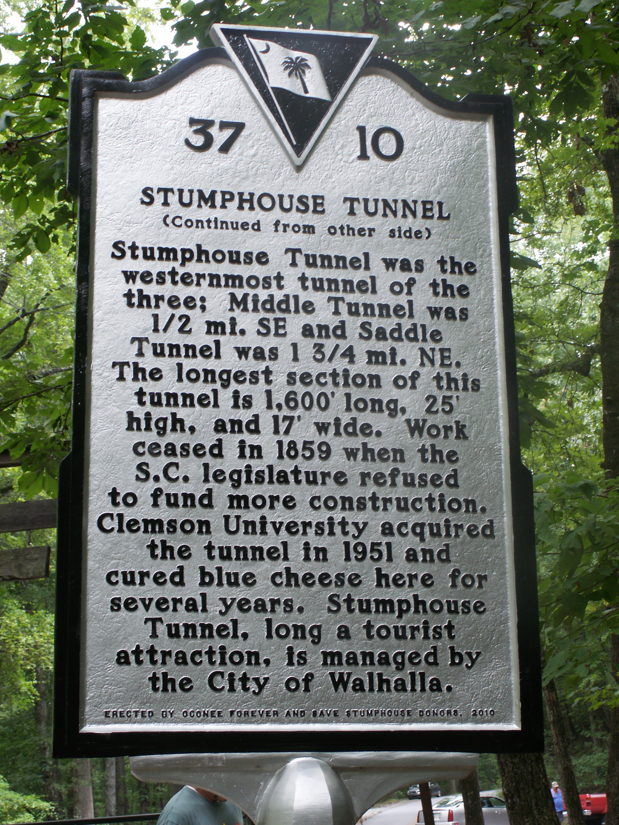 Stumphouse Tunnel Marker Reverse