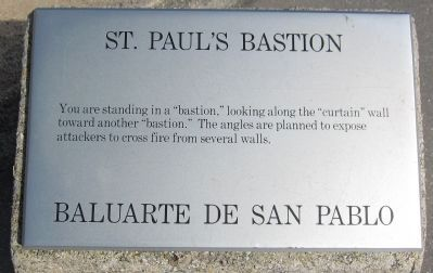 St. Paul's Bastion Marker image. Click for full size.