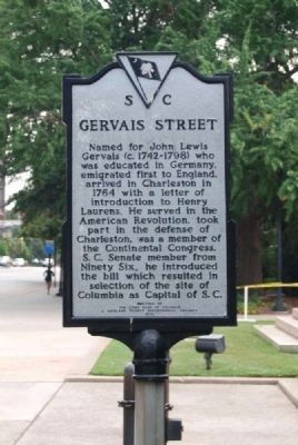 Gervais Street Marker image. Click for full size.
