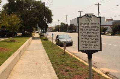College Street Marker, looking south along Main Street image. Click for full size.