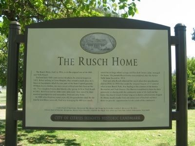 The Rusch Home Marker image. Click for full size.