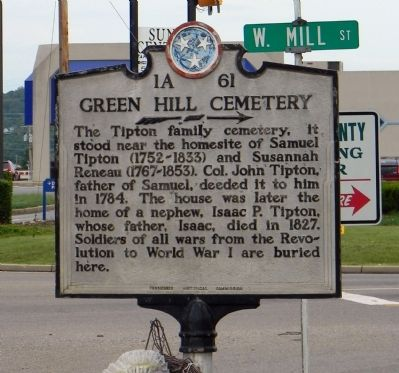Green Hill Cemetery Marker image. Click for full size.