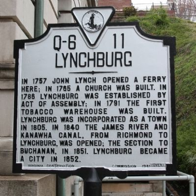 Lynchburg Marker, Side A image. Click for full size.