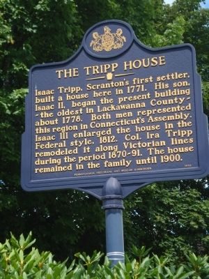 The Tripp House Marker image. Click for full size.