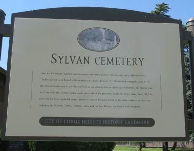 Sylvan Cemetery Marker image. Click for full size.