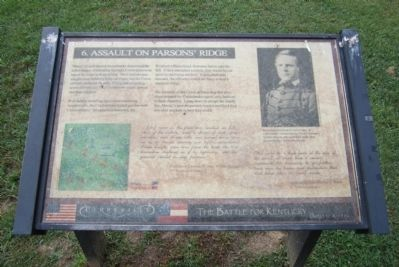 Assault on Parsons' Ridge Marker image. Click for full size.