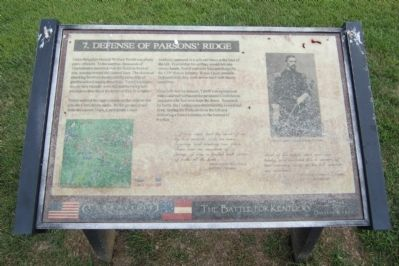 Defense of Parsons' Ridge Marker image. Click for full size.