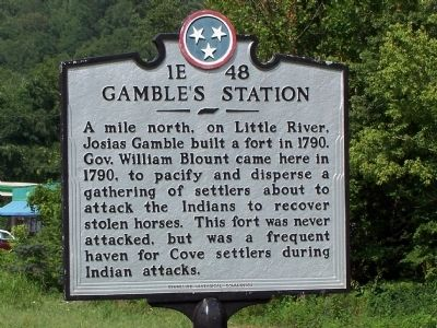 Gamble's Station Marker image. Click for full size.