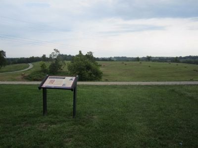 &#8220;For God's sake, save that battery&#8221;<br>The 38th Indiana at Perryville Marker image. Click for full size.