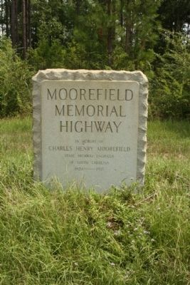 Moorefield Memorial Highway Marker image. Click for full size.