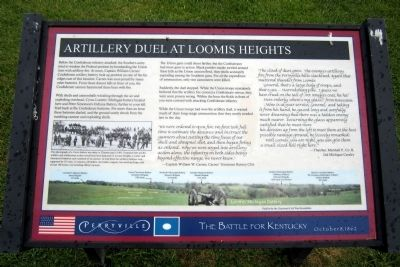 Artillery Duel at Loomis Heights Marker image. Click for full size.