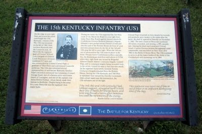 The 15th Kentucky Infantry (US) Marker image. Click for full size.