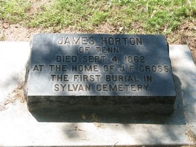 James Horton Grave Marker image. Click for full size.