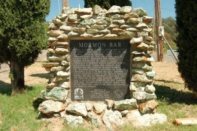 Mormon Bar Marker image. Click for full size.