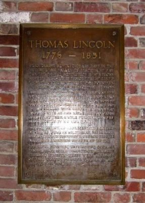 Thomas Lincoln (1776 - 1851) image. Click for full size.