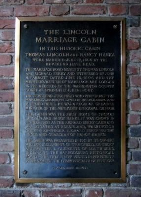 The Lincoln Marriage Cabin image. Click for full size.