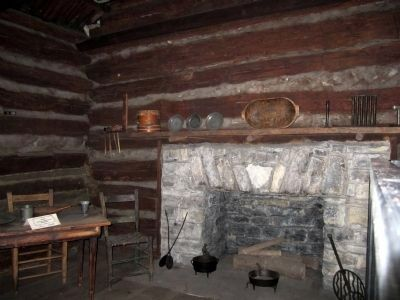 The Lincoln Marriage Cabin (interior) image. Click for full size.