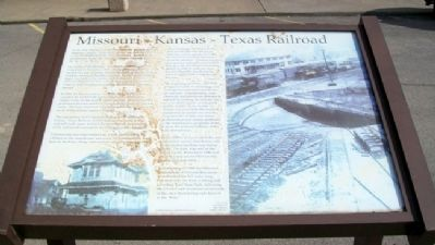 Missouri - Kansas - Texas Railroad Marker image. Click for full size.
