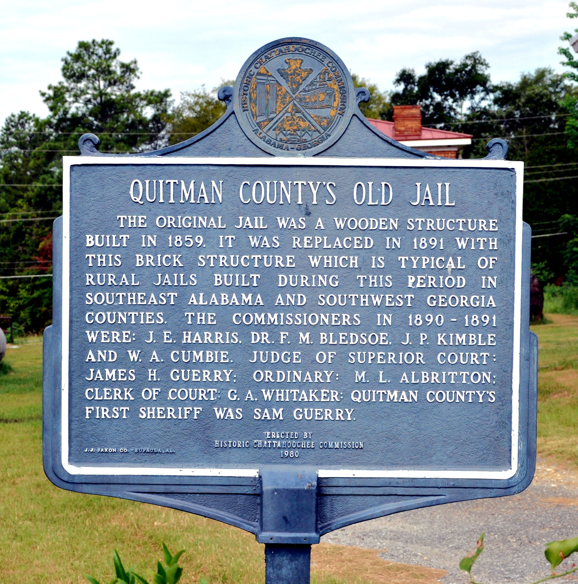 Quitman County's Old Jail Marker