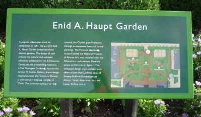 Enid A. Haupt Garden Marker Panel 1 image. Click for full size.