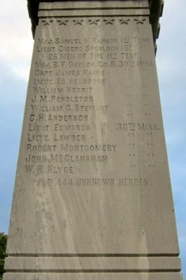 Perryville Confederate Memorial (west face) image. Click for full size.