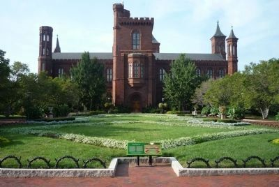 "The Enid A. Haupt Garden with the Smithsonian ""Castle"" behind the parterre image. Click for full size."