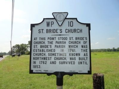 St. Bride's Church Marker image. Click for full size.