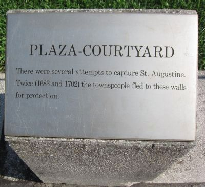 Plaza-Courtyard Marker image. Click for full size.