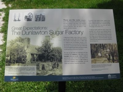 Great Expectations: The Dunlawton Sugar Factory Marker image. Click for full size.