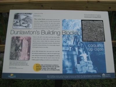 Dunlawton's Building Blocks Marker image. Click for full size.