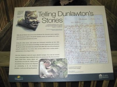 Telling Dunlawton's Stories Marker image. Click for full size.