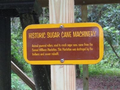 Historic Sugar Cane Machinery Marker image. Click for full size.