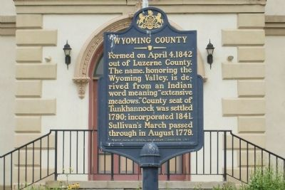 Wyoming County Marker image. Click for full size.