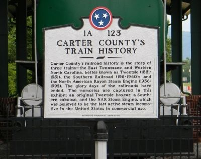Carter County's Train History Marker image. Click for full size.