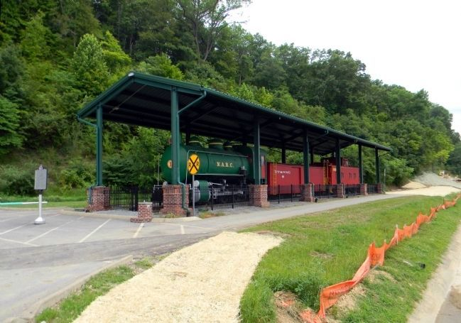 Wide view of the Carter County's Train History Marker image, Touch for more information