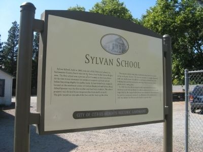 Sylvan School Marker image. Click for full size.